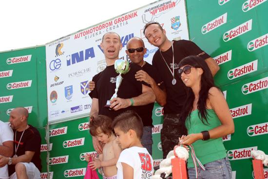 Bellini, Ognibene, Pacchiana podio Rijeka Endurance Luglio 2013
