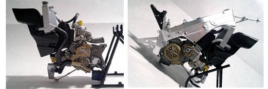 Dettaglio motore Honda NSR Movistar '98