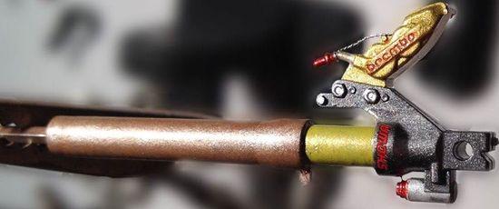 Dettaglio forcella NSR500 '98