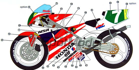 STUDIO27 Decals for Honda NSR 250 '91